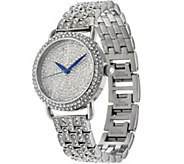 Stainless Steel Pave Crystal Bracelet Watch - J334176