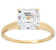 Diamonique 3.00 cttw Solitaire Ring, 14K Yellow Gold - J348876