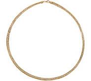 Italian Gold 20 Tri-Color Omega Necklace 14K Gold, 18.7g - J350976