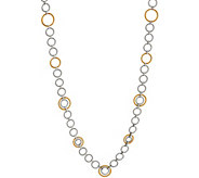 ALOR Cable Stainless Steel 36 Circle Link Necklace - J352276