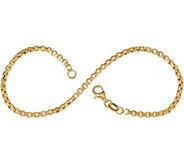 Italian Gold 7-1/4 Round Box Chain Bracelet, 14K 2.2g - J353476