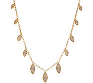 Melinda Maria Simulated Gemstone Leaf Fringe Necklace -Reese - J355676