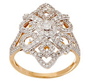 As Is Estate Style Diamond Ring, 5/8 cttw, 14K Gold, by Affinity - J356976