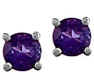 14K White Gold Round Gemstone Earrings - J376976