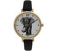 Olivia Pratt Womens Elephant Leather Watch - J380476