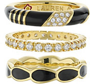Lauren G Adams Goldtone Stackable Ring Set - J380876