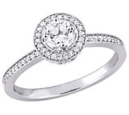Affinity 14K Gold 1/2 cttw Round Diamond Halo Ring - J381376