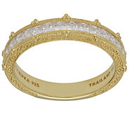 Judith Ripka 14K Clad Princess-Cut Diamonique Band Ring - J382276