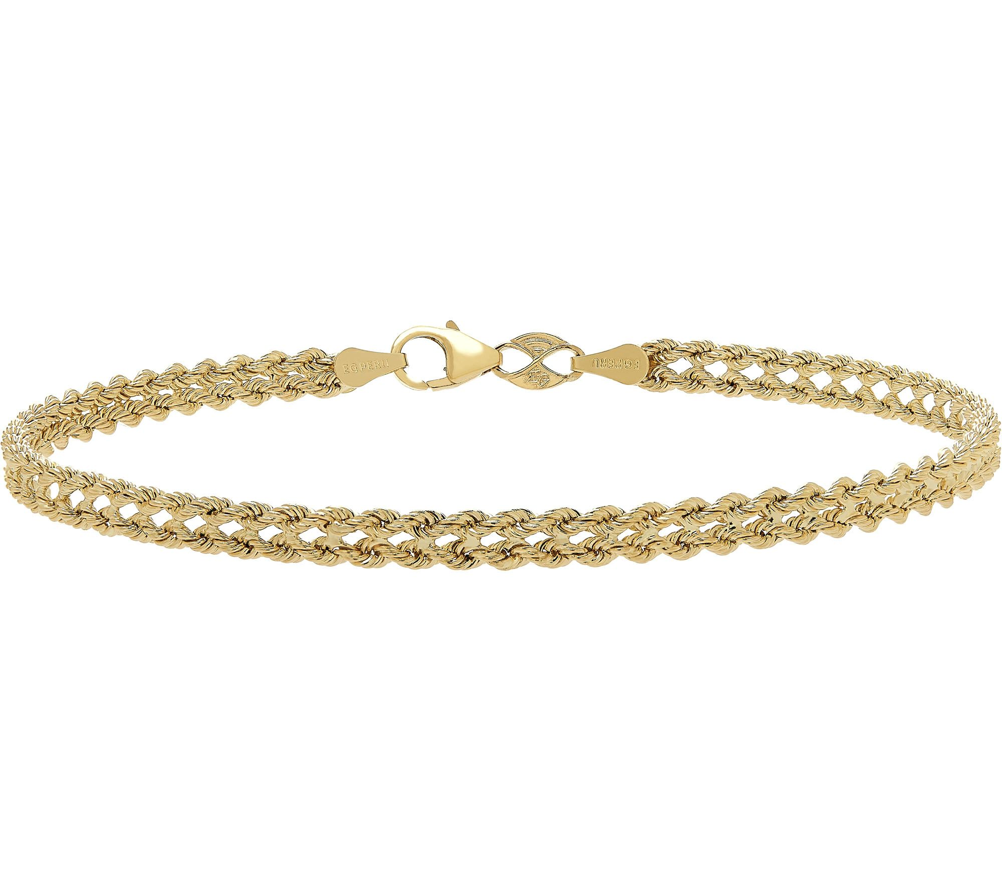 Heart Rope Bracelet 14k Gold