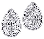 Affinity 14K 1/3 cttw Diamond Cluster Pear StudEarrings - J383676
