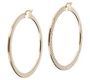 Veronese 18K Clad 2 Round Hoop Earrings - J390876