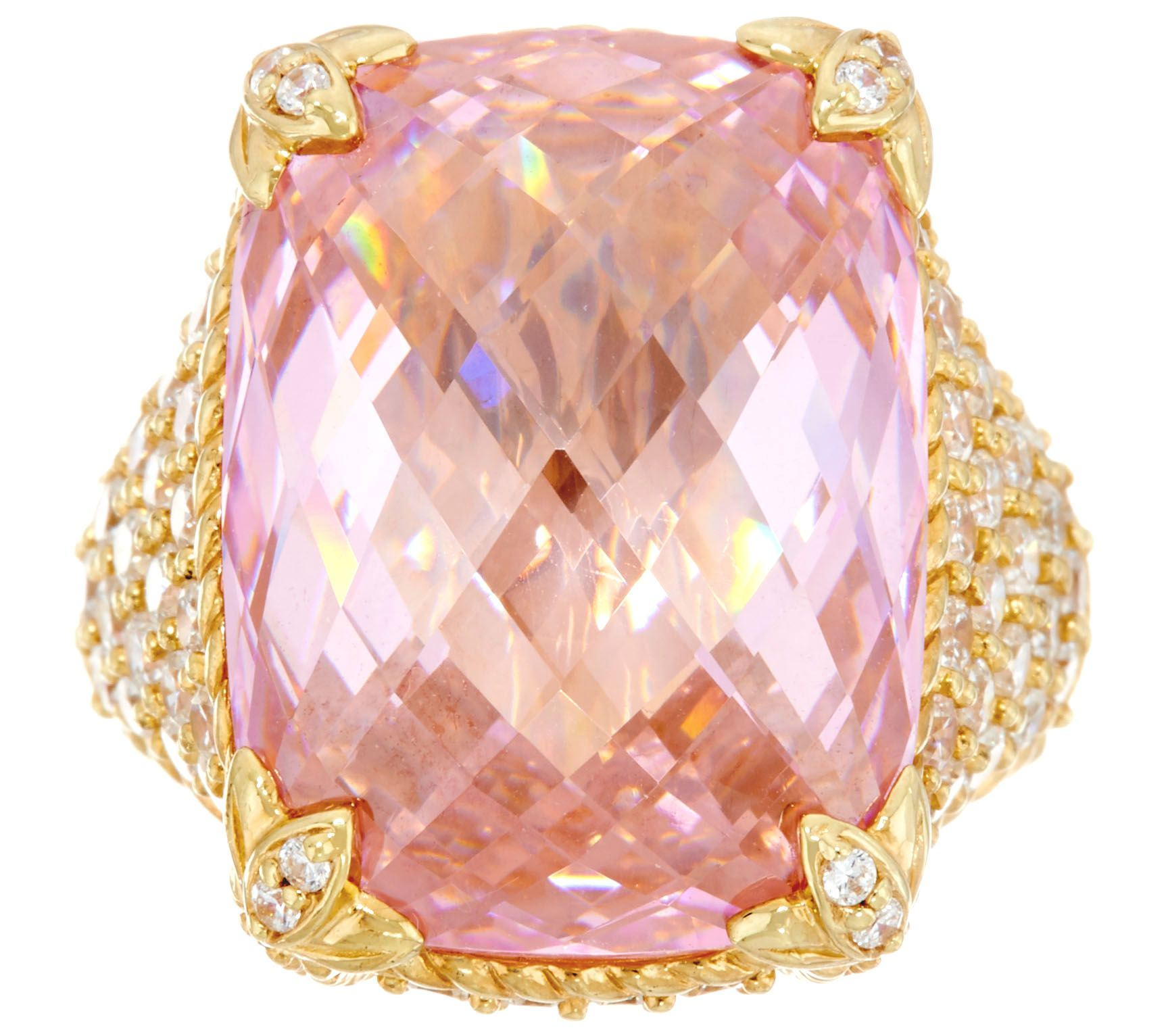 Judith Ripka Sterling / 14K Clad Pink Diamonique Monaco Ring - Page ...