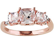 1.40 cttw Morganite & Diamond Ring, Sterling - J341677