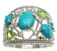 Judith Ripka Sterling Silver Open Multi-Stone Ring - J343277