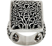 EXEX by Claudia Agudelo Sterling Silver Floral Design Ring - J350877