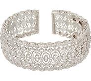 Judith Ripka Sterling Silver Diamonique Cuff, 4.25 cttw - J352277