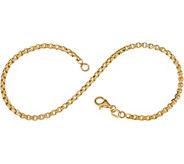 Italian Gold 8 Round Box Chain Bracelet, 14K 2.3g - J353477