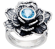 Or Paz Sterling Silver Gemstone Accent Flower Ring - J358777