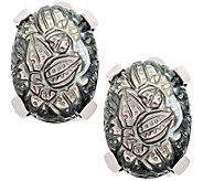 Stephen Dweck Sterling Carved Gemstone Clip-OnEarrings - J385177