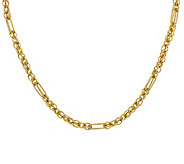 Italian Gold Interlocking Multi-Link Necklace,14K Gold, 10.9g - J385477