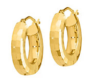 Italian Gold 5/8 Textured Hoop Earrings, 14K - J385677