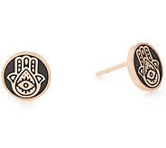 Alex and Ani Sterling Silver Hamsa Stud Earrings - J386277