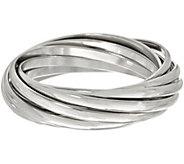 Linea by Louis DellOlio Silvertone Rolling Bangle Bracelet - J390577