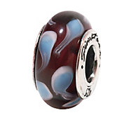 Prerogatives Sterling Blue and Brown Glass Bead - J108878