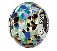 Prerogatives Sterling Blue/Red Italian Murano Glass Bead - J111778