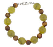 Connemara Marble and Gemstone Bead 6-3/4 Bracelet - J19878