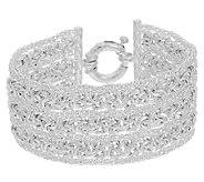 UltraFine Silver 7-1/4 Triple Row Woven Byzantine Bracelet - J289578