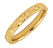 Simply Stacks Sterling 18KYellowGold-Plated 3.25mm TextureRing - J298078