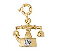 14K Yellow Gold Two-tone Telephone Charm - J298478