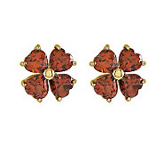 Choice of Flower Gemstone Stud Earrings, 14K Go ld - J313778