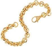 Italian Gold 7-1/4 Faceted Link Rolo Bracelet, 14K, 6.9g - J348778