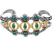 American West Luna Gemstone Sterling Silver Brass Cuff Bracelet - J349278