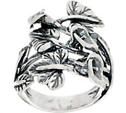 Or Paz Sterling Calla Lily & Leaves Ring - J351378