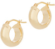 Italian Gold 1/2 Polished Hoop Earrings, 14K Gold - J356478