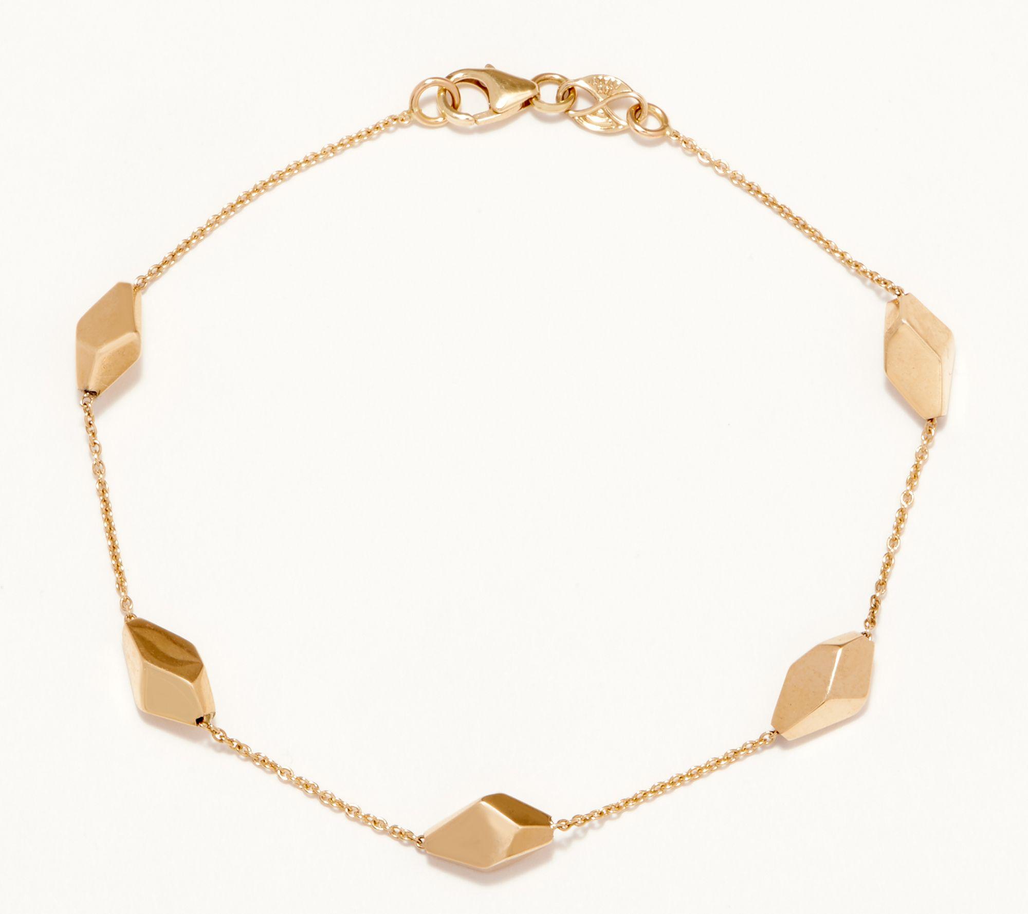 Station Bracelet 14k Gold