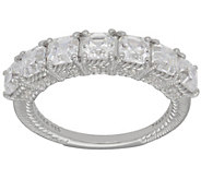 Judith Ripka Sterling 7-Stone Princess-Cut Diamonique Ring - J382278