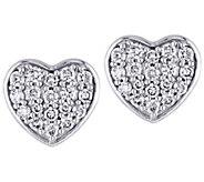 Affinity 14K 1/3 cttw Diamond Cluster Heart Stud Earrings - J383678