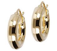 Veronese 18K Clad 1/2 Polished Hoop Earrings - J390878