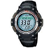 Casio Mens Digital Compass Twin Sensor Nylon Band Watch - J106979