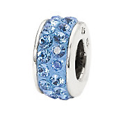 Prerogatives Light Blue Double Row Swarovski Crystal Bead - J299579