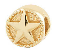 Prerogatives Gold-Plated Sterling Star Bead - J302679