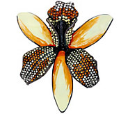 As Is Joan Rivers Enamel & Pave Shimmering Orchid Pin - J334579