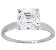 Diamonique 3.00 cttw Solitaire Ring, 14K White Gold - J348879