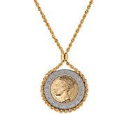 Bronze 500 Lire Coin Necklace by Bronzo Italia - J349379