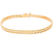 Imperial Gold 6-3/4 Satin Sheen Bracelet, 14K Gold, 7.4g - J350679