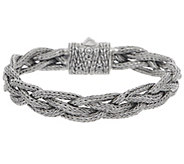 Artisan Crafted Sterling Silver Tulang Naga Braided Bracelet - J355479